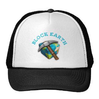 Blocks Earth T-shirts Trucker Hat