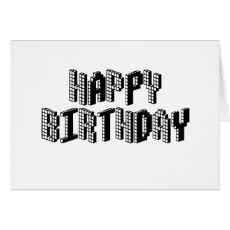 Blocks Happy Birthday Card