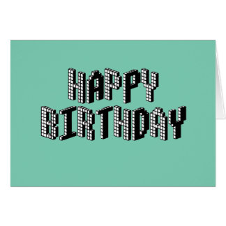 Blocks Happy Birthday (Green) Card