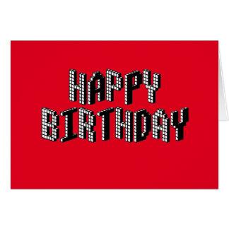 Blocks Happy Birthday (Red) Card