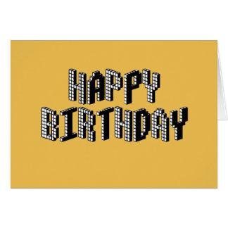 Blocks Happy Birthday (Yellow) Card