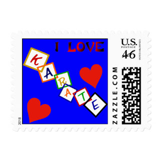 Blocks Karate Postage Stamps