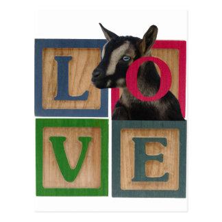 BLOCKS LOVE GOAT POSTCARD