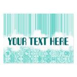 blocks n stripes blue business card template