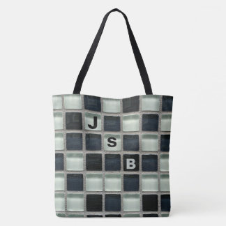Blocks of Glass Crossword Letters Tote Bag