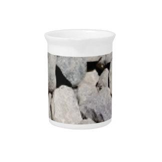 blocks of stone art drink pitcher