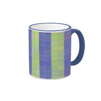 Blocks or Stripes Ringer Coffee Mug