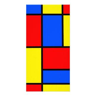 Blocks Customized Photo Card