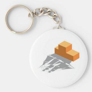 Blocks Pirate Ship Keychain