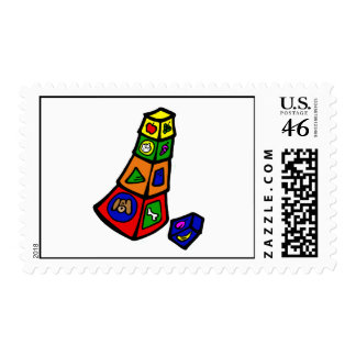 blocks stacked postage