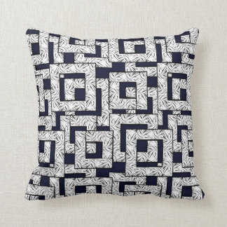 Blocks Tiger Stripes Blue-White Decor-Soft Pillows