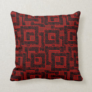 Blocks Tiger Stripes Red-Black Decor-Soft Pillow