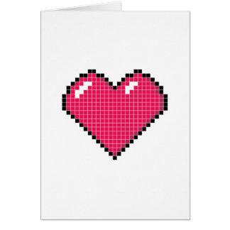 Blocky Heart Card