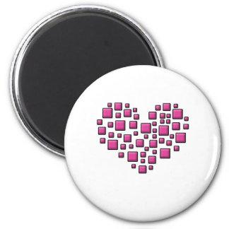 Blocky Heart Magnet