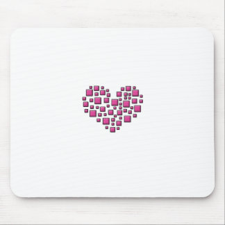 Blocky Heart Mouse Pad