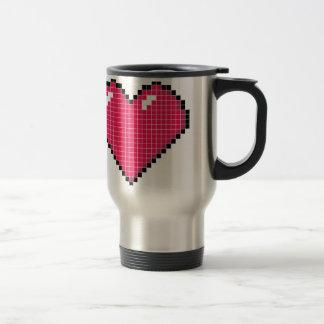 Blocky Heart Travel Mug