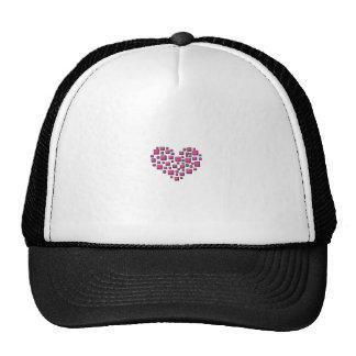 Blocky Heart Trucker Hat
