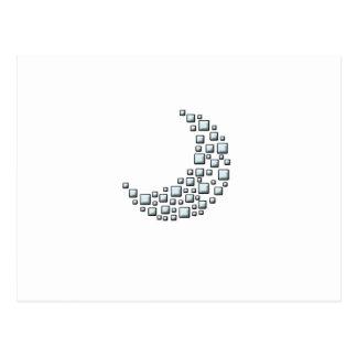Blocky Moon Postcard