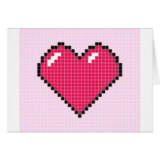 Blocky Pink Heart Card
