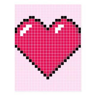 Blocky Pink Heart Postcard