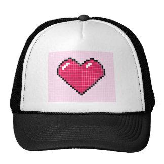 Blocky Pink Heart Trucker Hat