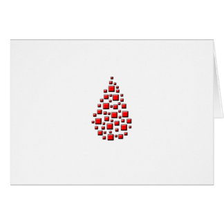 Blocky Red Drop Card