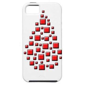 Blocky Red Drop iPhone SE/5/5s Case