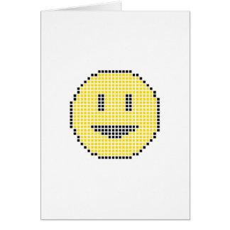 Blocky Smiley Face Card