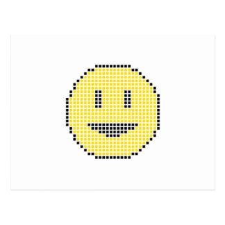 Blocky Smiley Face Postcard
