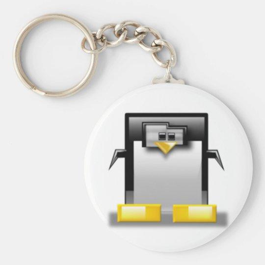 Blocky Tux Keychain