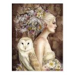 Blodeuwedd en la floración tarjeta postal