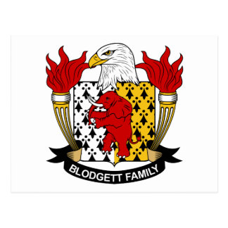 Blodgett Family Crest Postcard