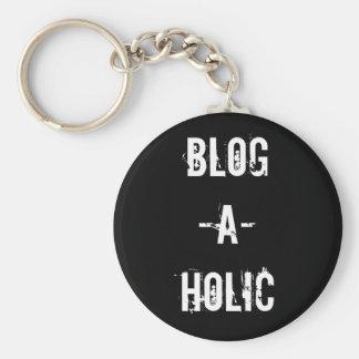 Blog-A-Holic Keychain (Black)