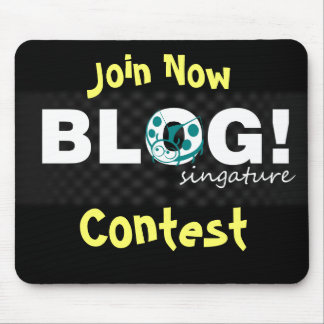Blog contest mouse pad
