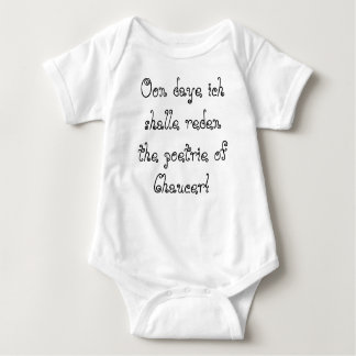 Blog de Chaucer: ¡Para el infaunt del thyne! Body Para Bebé