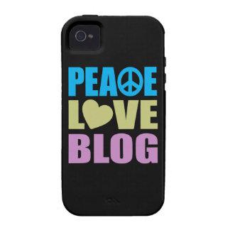 Blog del amor de la paz iPhone 4 carcasa