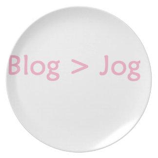 Blog pink plate