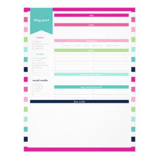 Blog Post Planner Letterhead