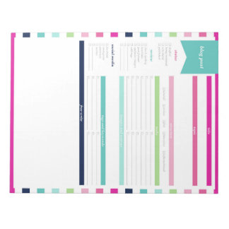 Blog Post Planner Note Pad