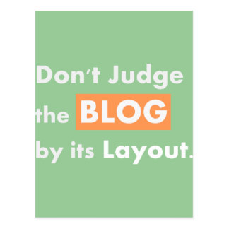 Blog quotes Don't Judge Post Cards