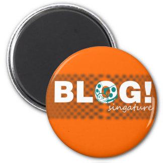 Blog signature design 2 inch round magnet