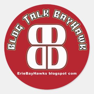 Blog Talk BayHawk Red Stickers