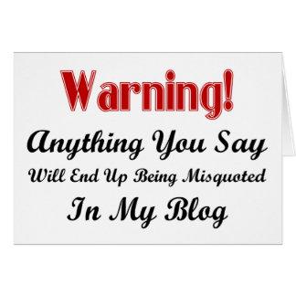 Blog Warning Card
