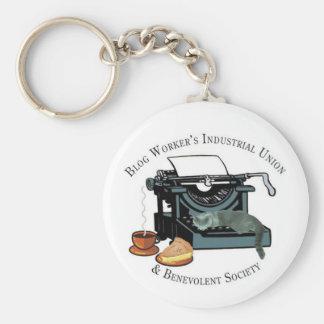Blog Workers Industrial Union Basic Round Button Keychain