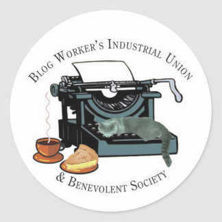 Blog Workers Industrial Union Classic Round Sticker