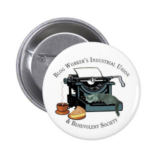 Blog Workers Industrial Union Pinback Button