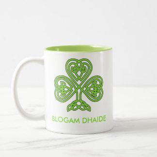Blogam Dhaide - Dad's Cuppa in Irish Gaelic Two-Tone Coffee Mug
