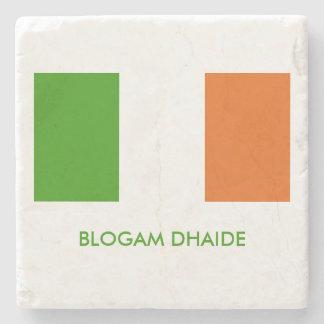Blogam Dhaide: Irish Dad's Cuppa Flag Stone Coaster