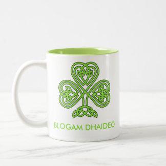 Blogam Dhaideo - Grandad's Cuppa in Irish Gaelic Two-Tone Coffee Mug