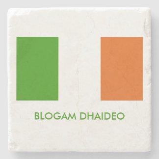 Blogam Dhaideo: Irish Grandpa's Cuppa Shamrock Stone Coaster